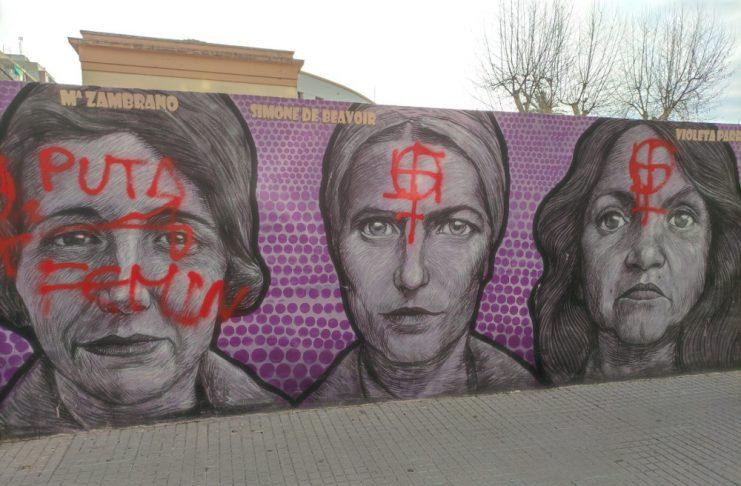 pintadas mural feminista Gandia
