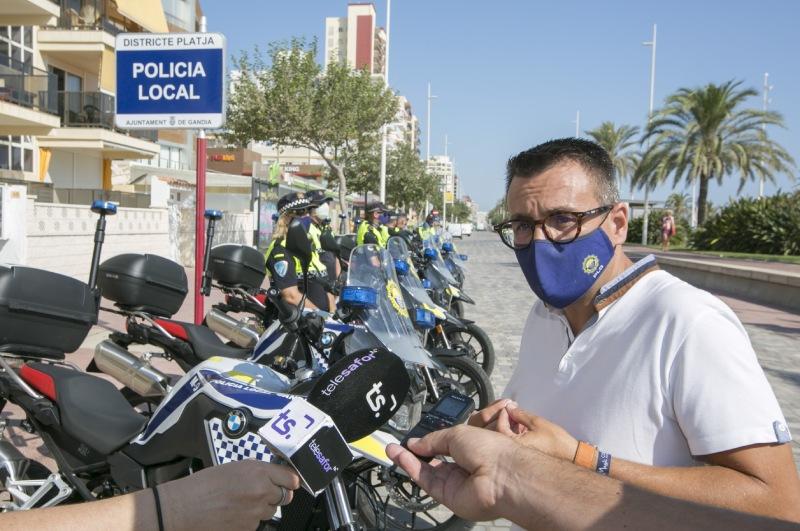 motos nuevas policía local de gandia