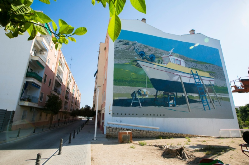 mural serpis urban art project